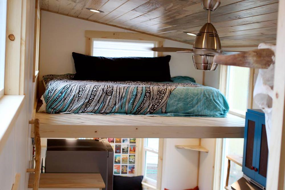 Bedroom Loft - Custom Fabricated Siding - Elise & Clara's Tiny House by MitchCraft Tiny Homes