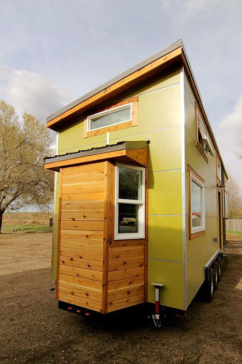 Bay Window - Custom Fabricated Siding - Elise & Clara's Tiny House by MitchCraft Tiny Homes