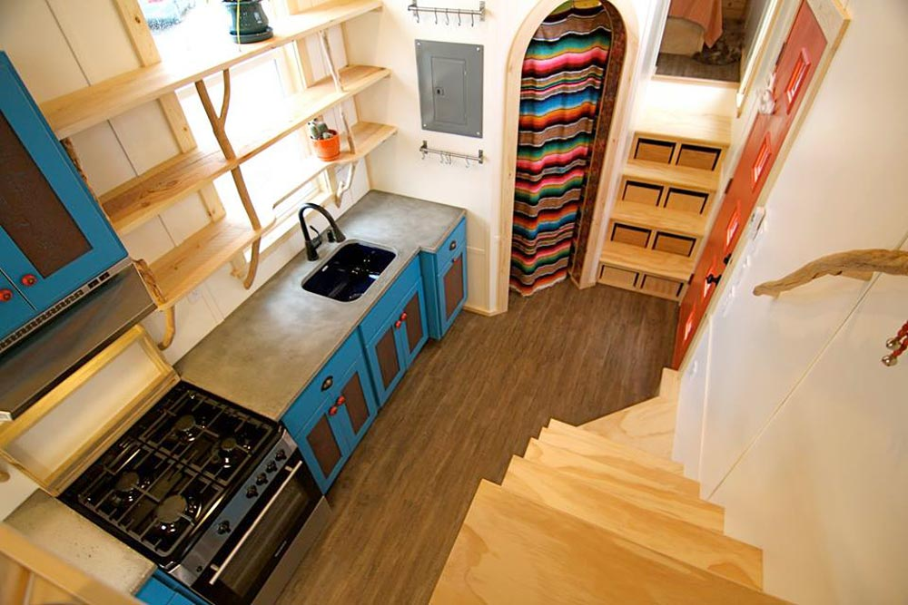 View From Loft - Custom Fabricated Siding - Elise & Clara's Tiny House by MitchCraft Tiny Homes