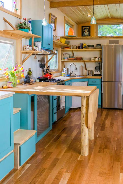 L-Shaped Kitchen - Eric & Oliver's Tiny House by Mitchcraft Tiny Homes