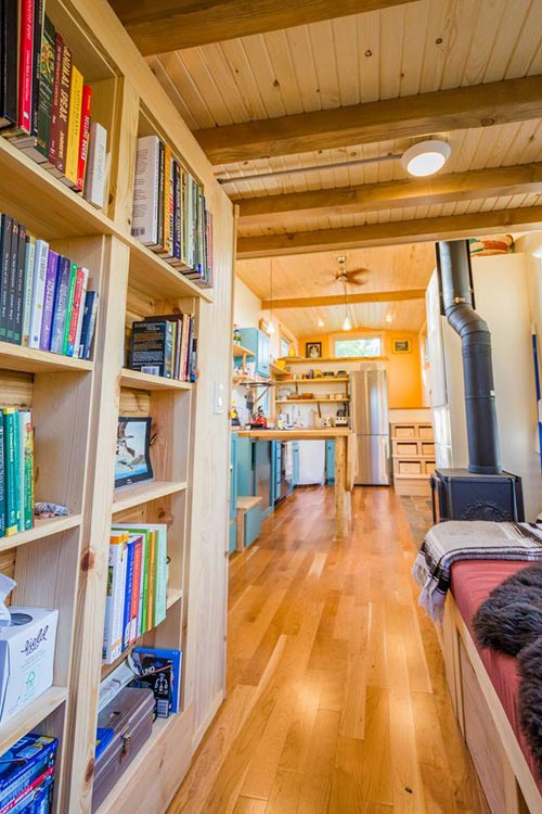 Bookshelves - Eric & Oliver's Tiny House by Mitchcraft Tiny Homes