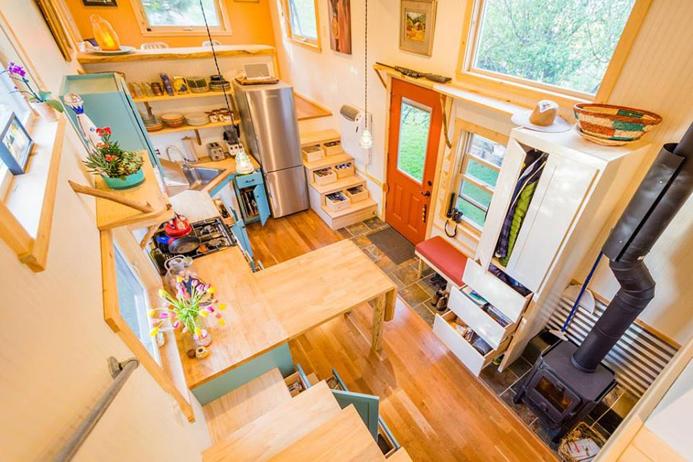 Tiny House Interior - Eric & Oliver's Tiny House by Mitchcraft Tiny Homes