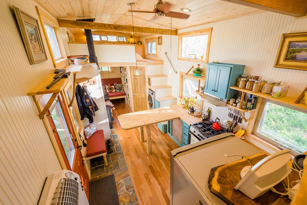 View From Gooseneck Deck - Eric & Oliver's Tiny House by Mitchcraft Tiny Homes