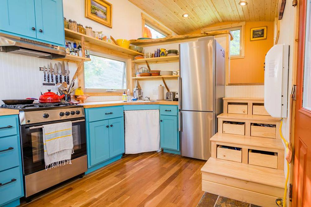 Kitchen - Eric & Oliver's Tiny House by Mitchcraft Tiny Homes