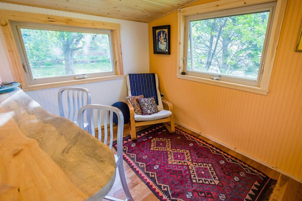 Living Area - Eric & Oliver's Tiny House by Mitchcraft Tiny Homes