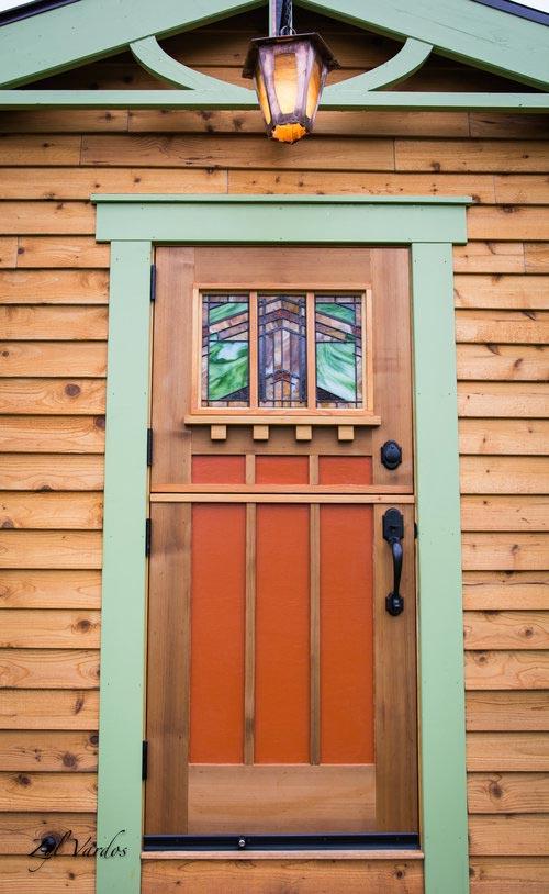 Stained Glass Dutch Door - Fuchsia by Zyl Vardos