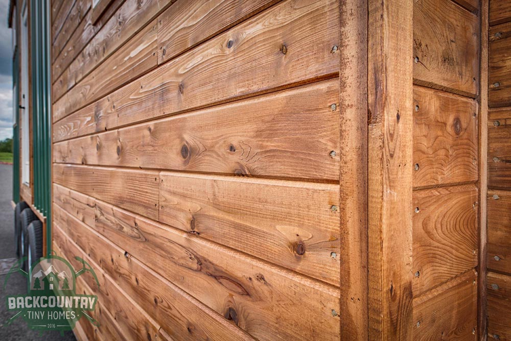 Sealed Cedar Siding - Juniper by Backcountry Tiny Homes