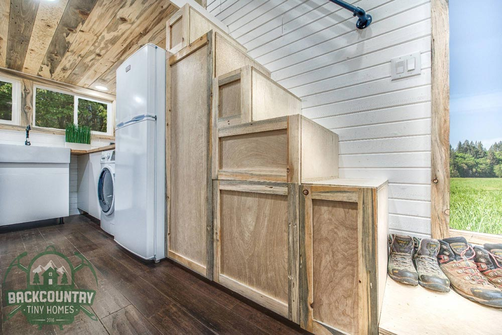 Storage Stairs - Juniper by Backcountry Tiny Homes