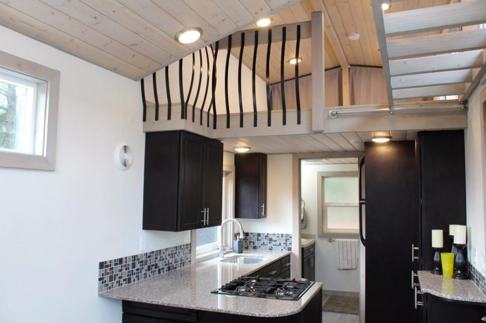 Kitchen & Loft - King's Loft by Tiny Houses of Washington
