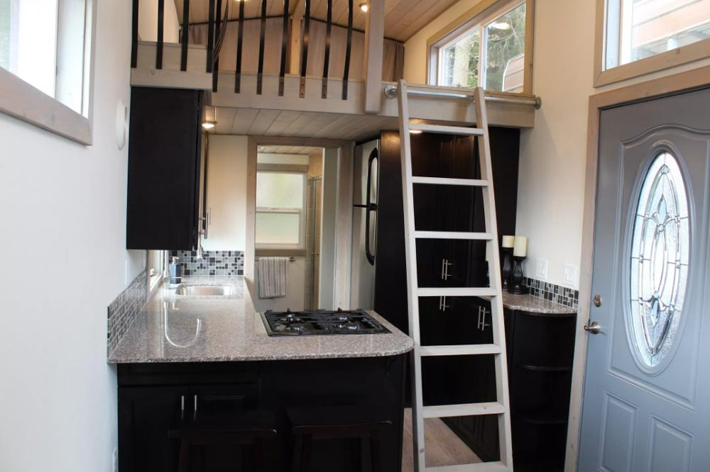 Loft Ladder - King's Loft by Tiny Houses of Washington