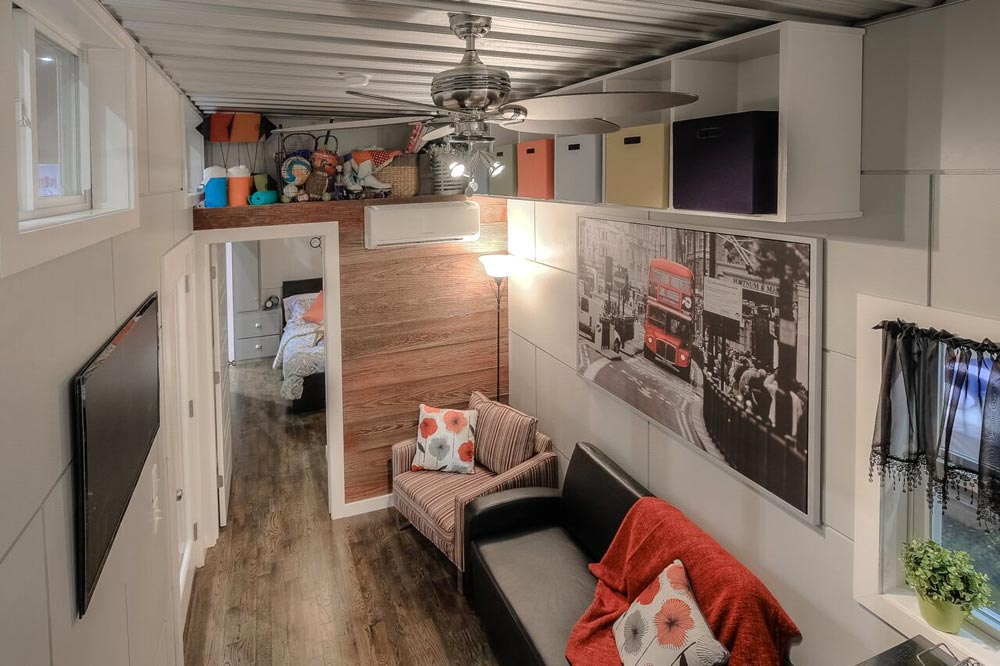 Overhead Storage - Modern Empty Nester by Custom Container Living
