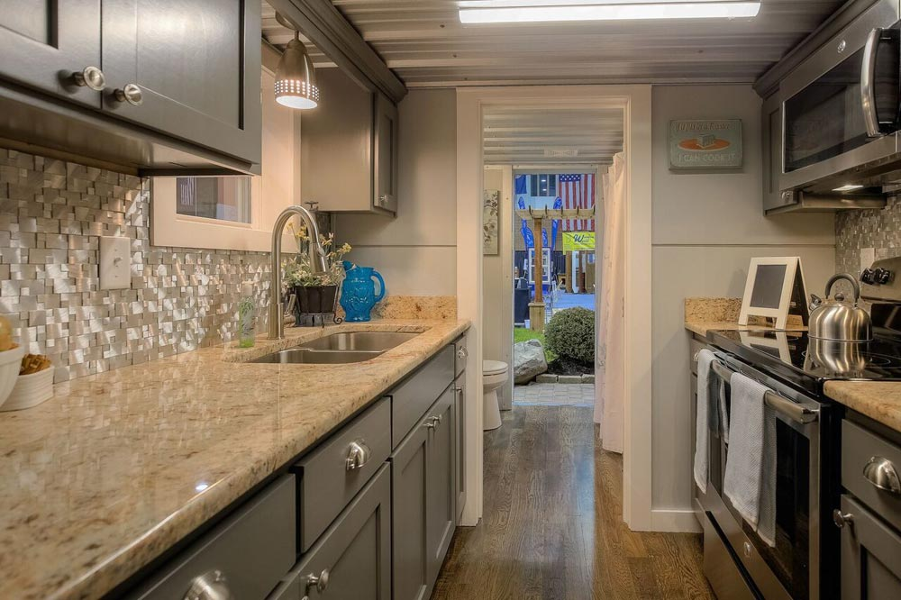 Galley Kitchen - Modern Empty Nester by Custom Container Living