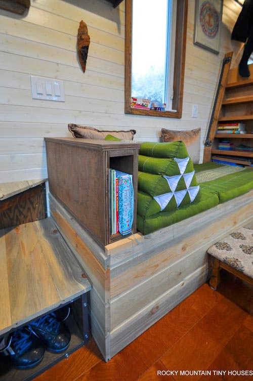 Custom Storage Couch - Red Mountain by Rocky Mountain Tiny Houses