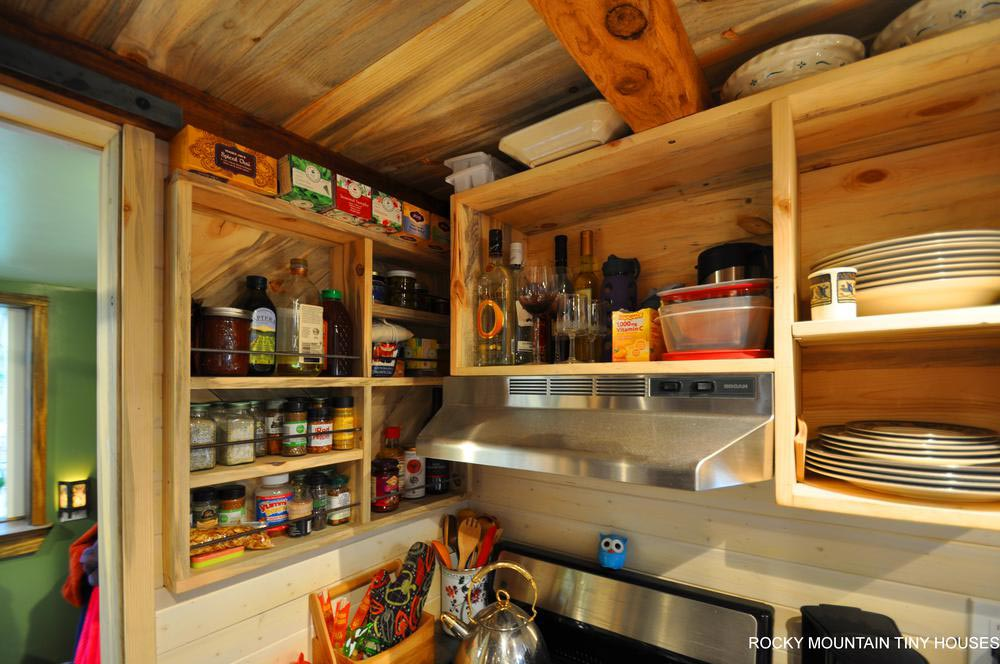 Open Shelving - Red Mountain by Rocky Mountain Tiny Houses
