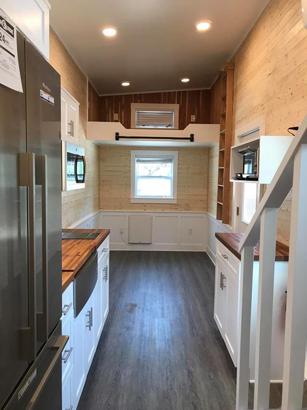 Kitchen & Living Room - Sportsman by A New Beginning Tiny Homes