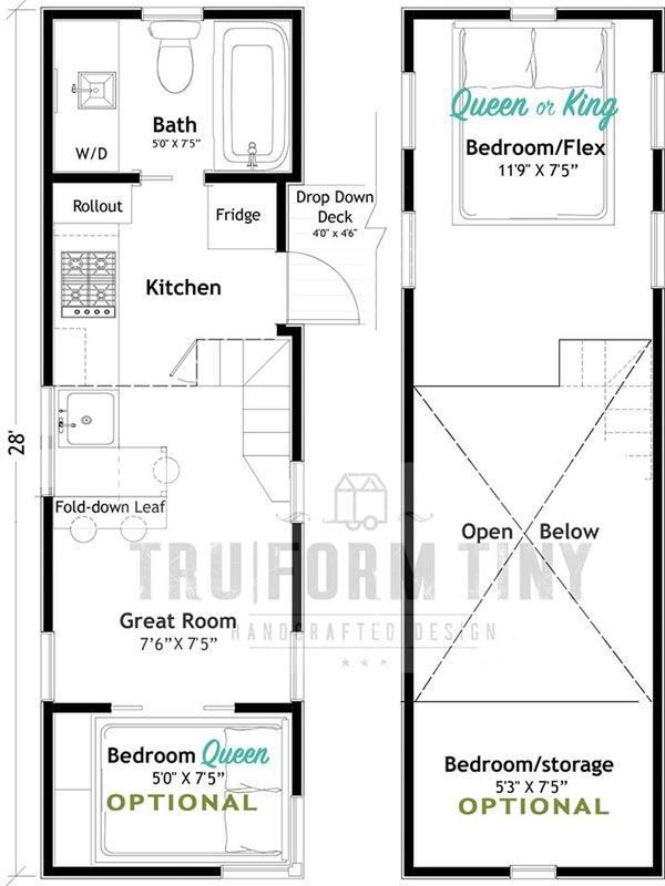 Floor Plans - Kootenay Country by TruForm Tiny