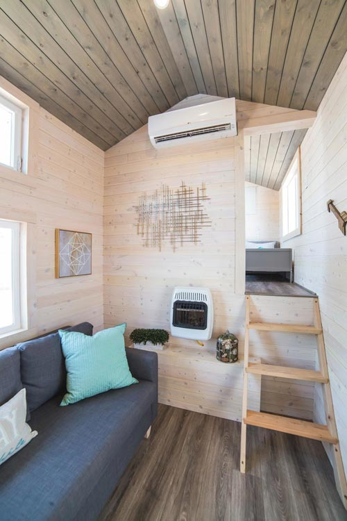Steps to Deck - Bunkhouse by Uncharted Tiny Homes