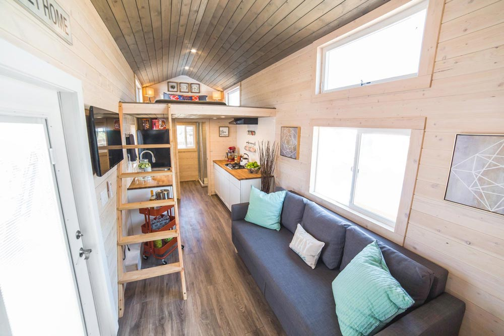 Bunkhouse by uncharted tiny homes tiny living - Tiny house living room ...