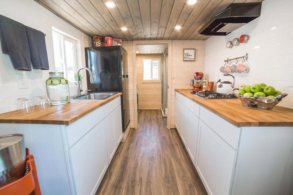 Galley Kitchen - Bunkhouse by Uncharted Tiny Homes