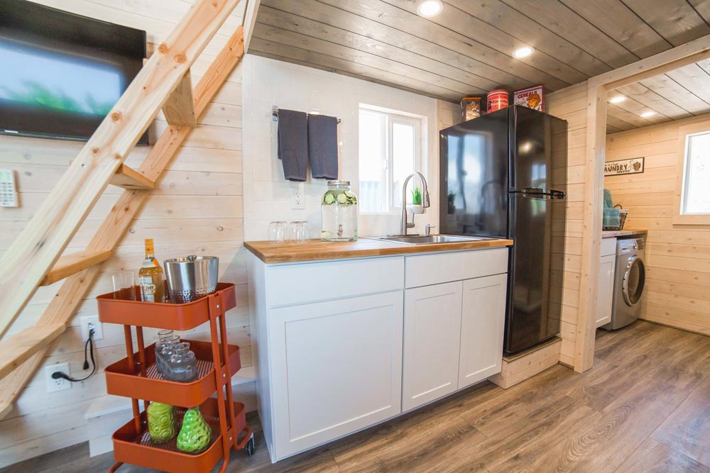 Sink & Refrigerator - Bunkhouse by Uncharted Tiny Homes