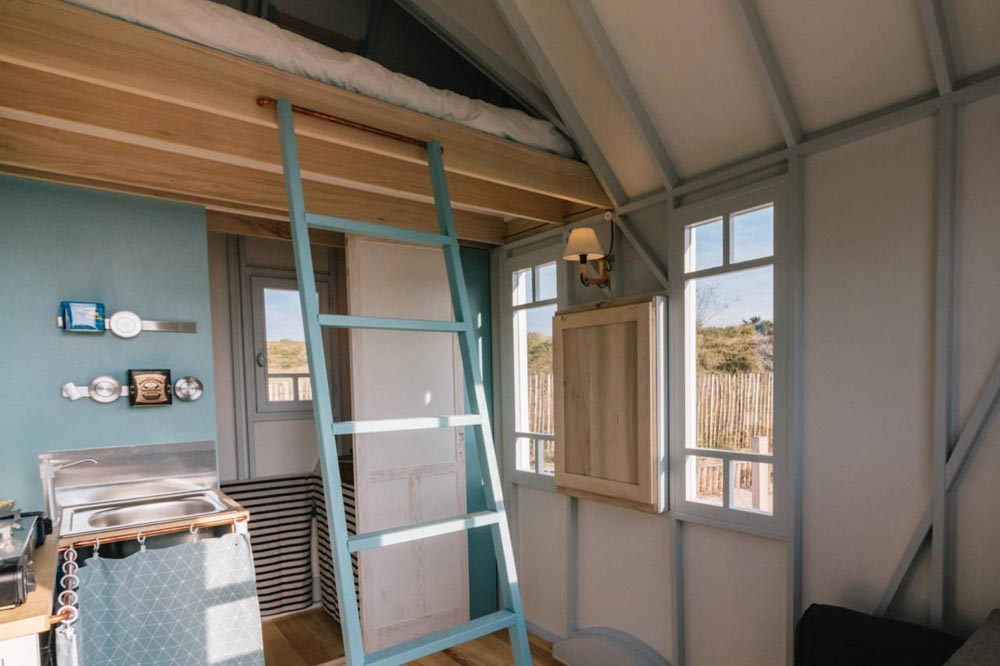 Loft Ladder - Cahute Tiny House