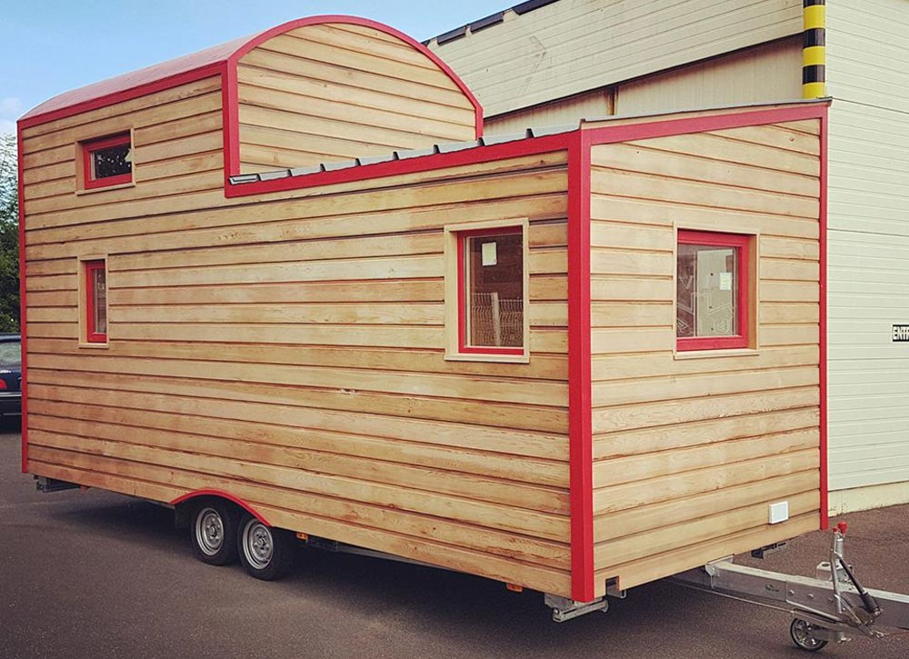 Natural Wood Siding - Cahute XL Tiny House