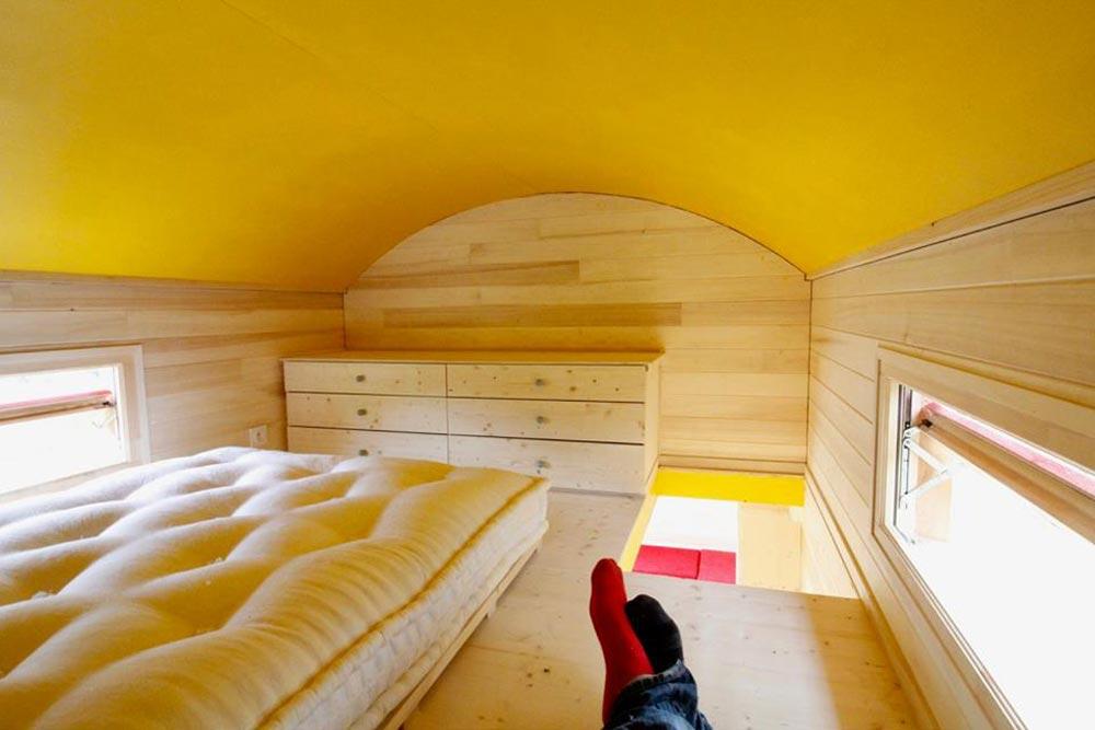Barrel Roofline - Cahute XL Tiny HouseNatural Wood Siding - Cahute XL Tiny House