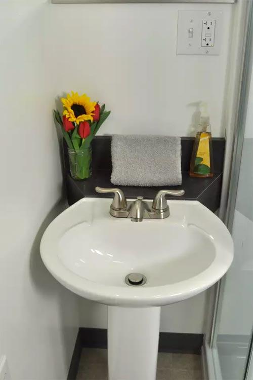 Bathroom Sink - Homer's Downtown Tiny House