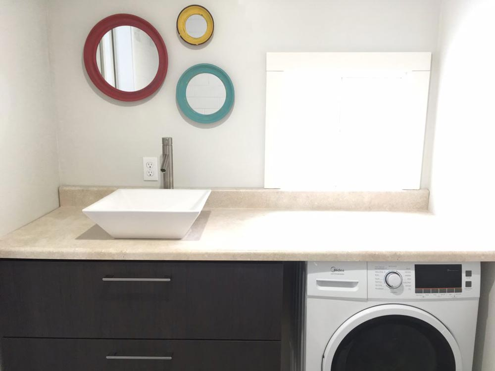 Washer/Dryer in Bathroom - Intellectual by Roostspace