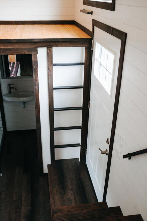Steel Loft Ladder - Ironclad by Wind River Tiny Homes