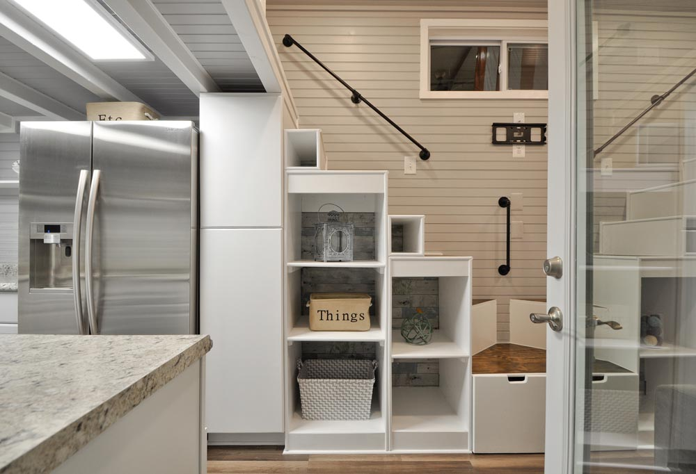 Refrigerator & Storage - Kate by Tiny House Building Company