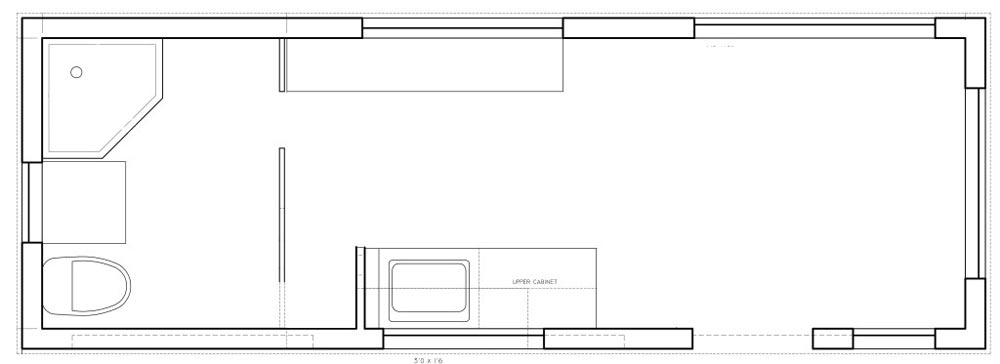 Floor Plan - Lillooet 24′ by Westcoast Outbuildings