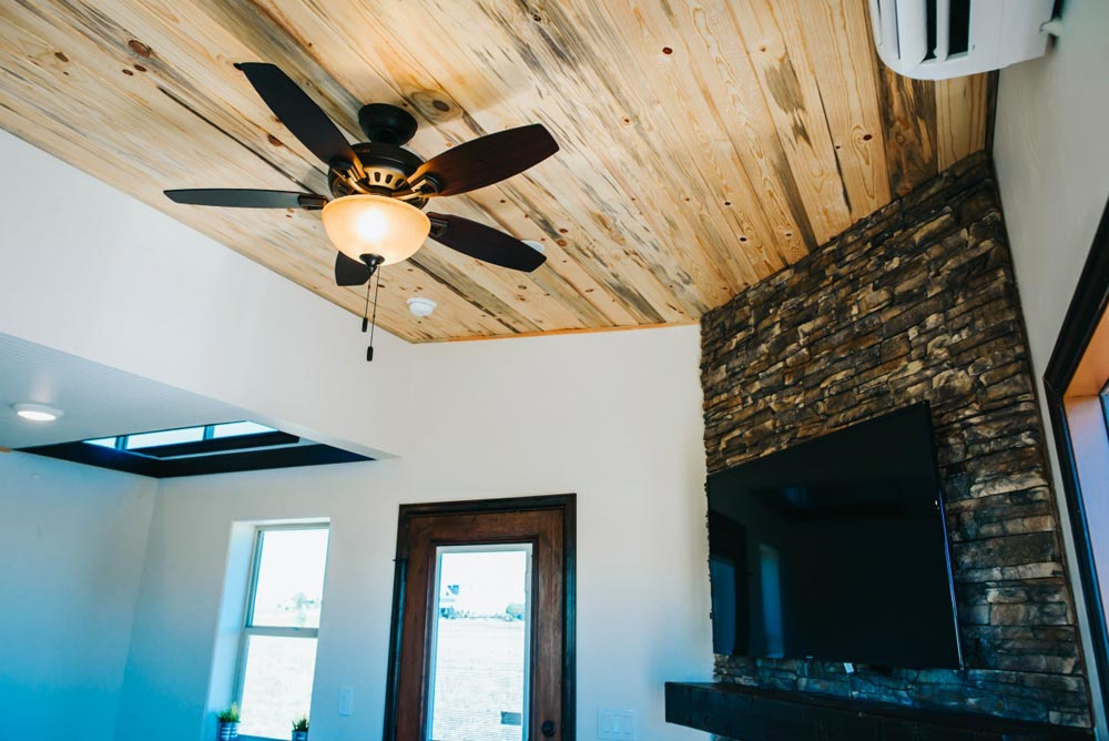 Beetle Kill Wood Ceiling - Mount Antero by The Tiny Home Co.