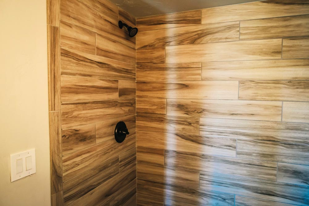 Shower Detail - Mount Antero by The Tiny Home Co.