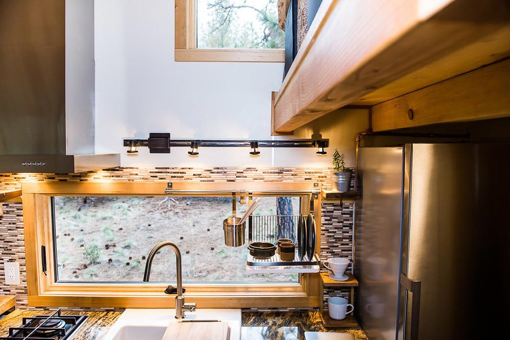 Glass Mosaic Tile Backsplash - North Sister by Wood Iron Tiny Homes