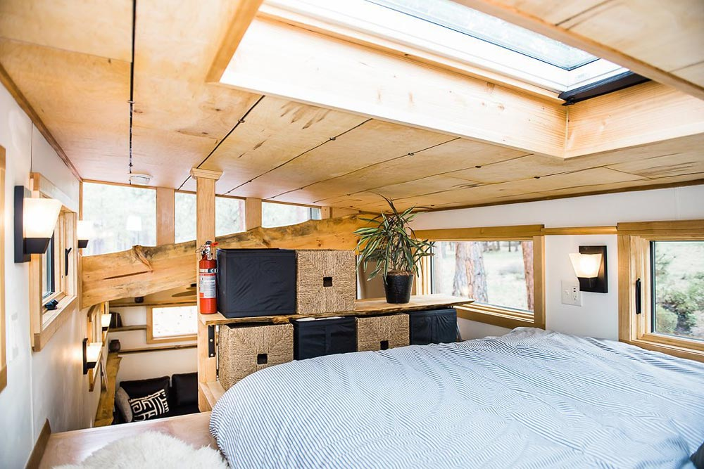 Bedroom Loft w/ Skylight - North Sister by Wood Iron Tiny Homes