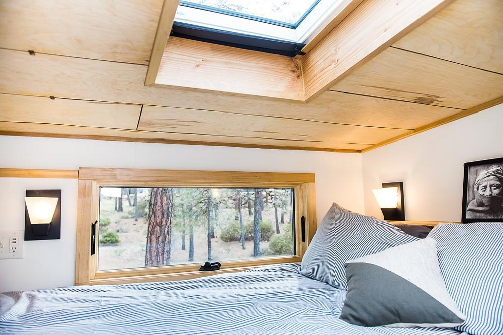 Bedroom Loft w/ Egress Window - North Sister by Wood Iron Tiny Homes