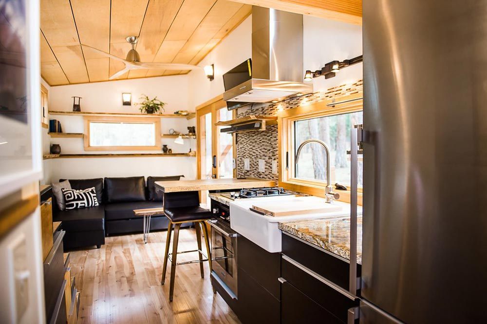 European Style Kitchen - North Sister by Wood Iron Tiny Homes