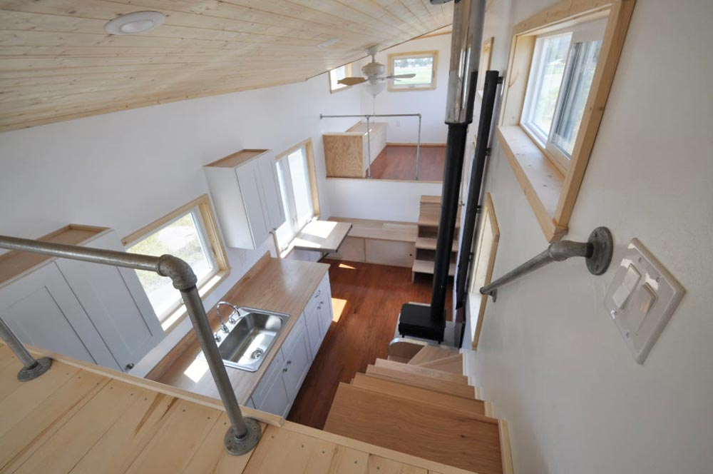 View From Loft - Otsego Gooseneck by Rocky Mountain Tiny Houses