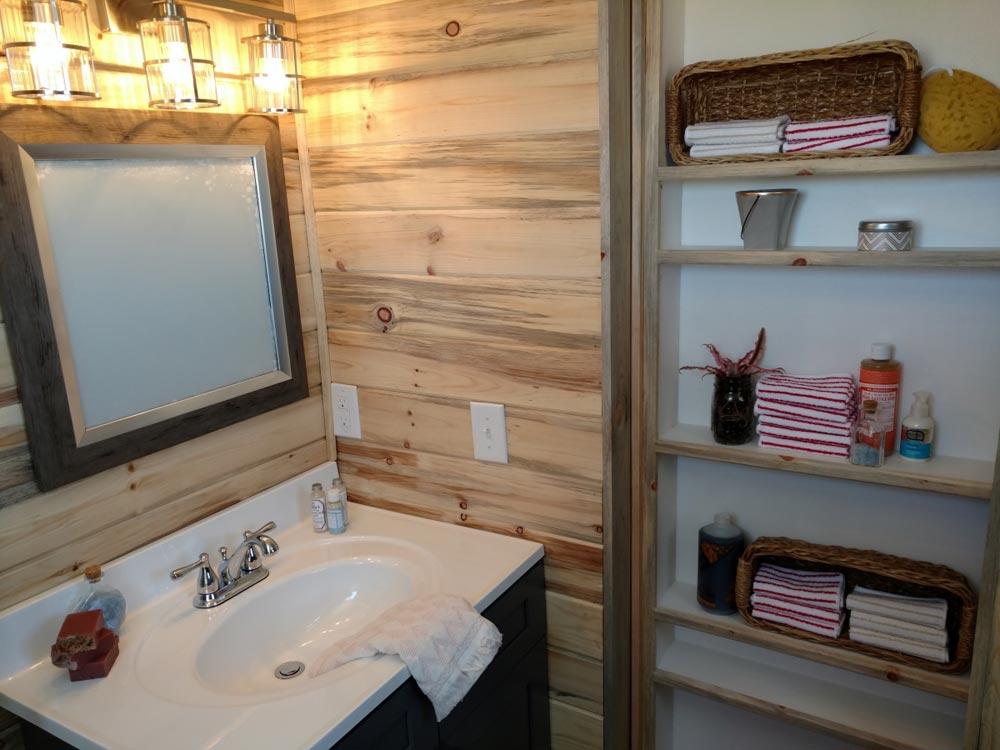 Bathroom Storage - Penny's Tiny Playhouse by The Tiny Home Co.