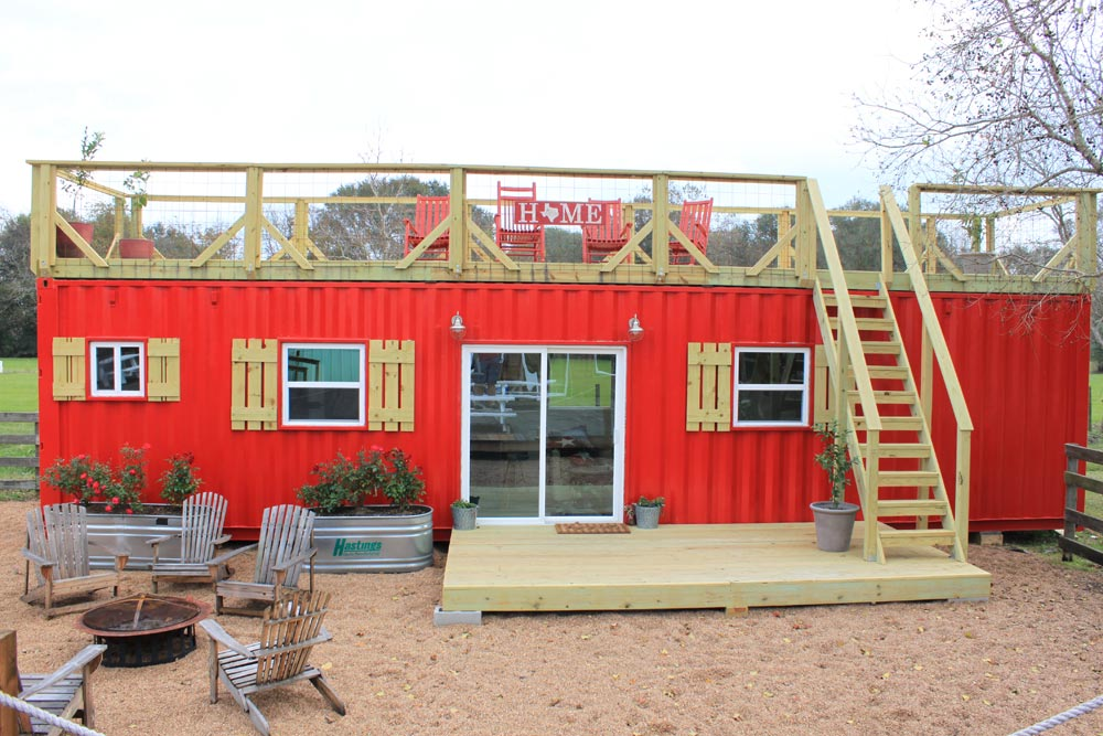 40' Container Tiny House - Rustic Retreat XL by Backcountry Containers