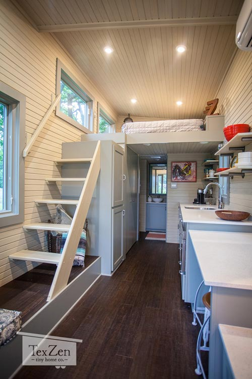 Tiny House Interior - Single Loft by TexZen Tiny Home Co.