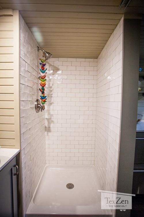 Shower Stall - Single Loft by TexZen Tiny Home Co.