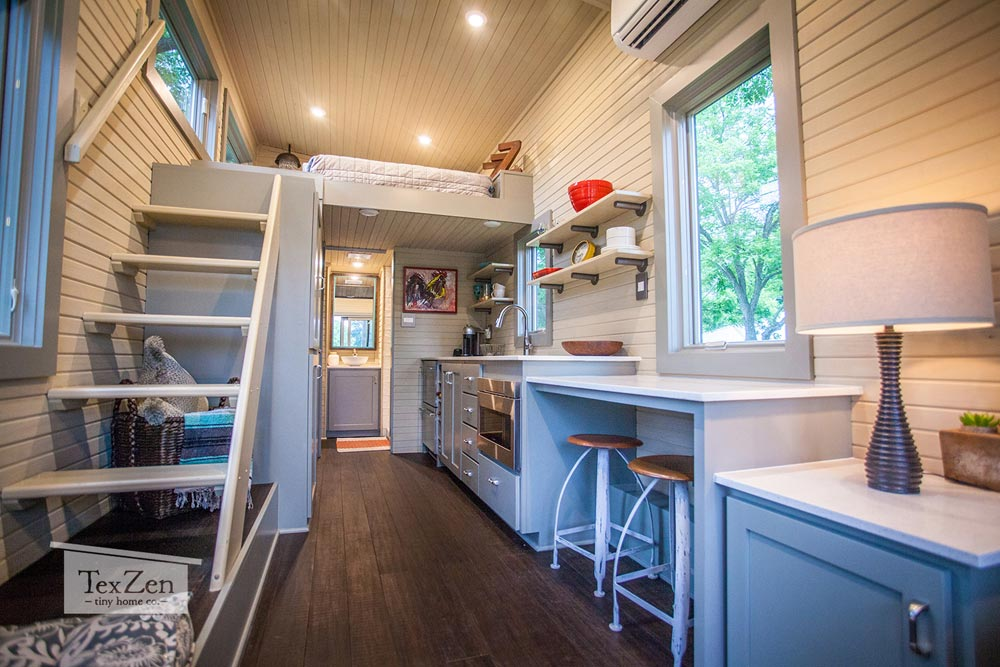 Three Tier Counter - Single Loft by TexZen Tiny Home Co.