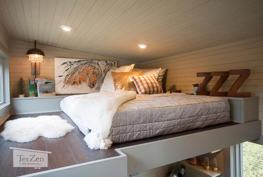 Bedroom Loft - Single Loft by TexZen Tiny Home Co.