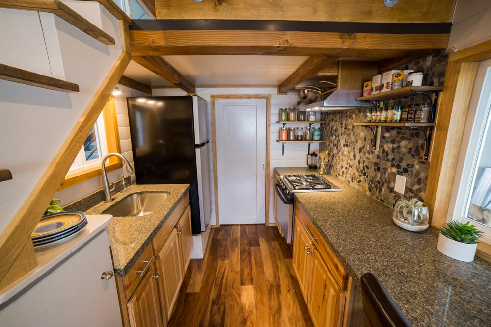 Kitchen - Custom Tiny House by Big Freedom Tiny Homes