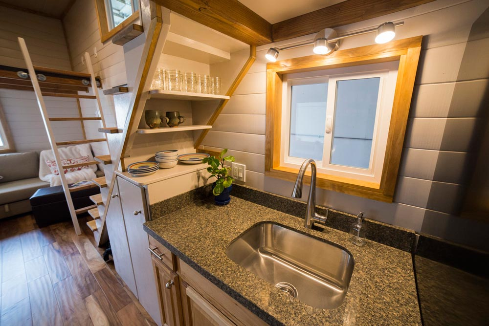 Kitchen Sink - Custom Tiny House by Big Freedom Tiny Homes