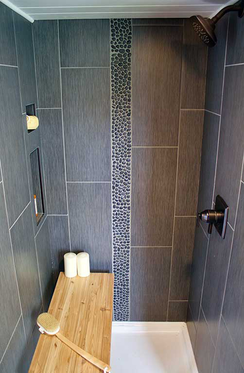 Tile Shower - Tiny Home, Big Outdoors by Tiny Heirloom