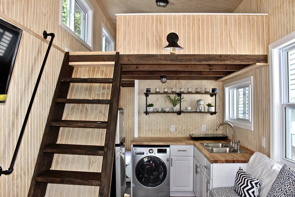 Stairway & Kitchen - Chalet Shack by Mini Mansions