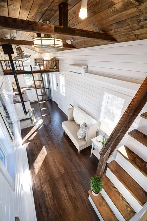 Wood Ceiling & Floor - Custom Loft Edition by Mint Tiny Homes